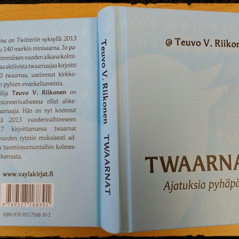 Teuvo V. Riikonen julkaisi (taas) kirjan – nyt saarnataan pienestä somen kirkonmäeltä