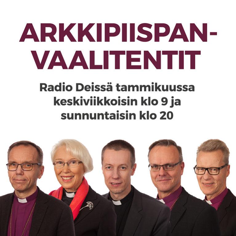 Radio Dei tenttaa arkkipiispanvaalin ehdokkaat