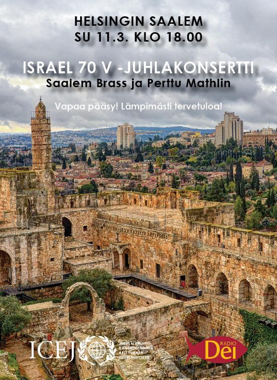 Israel 70v –juhlakonsertti su 11.3. klo 18