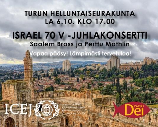 Israel 70 v -juhlakonsertti Turussa