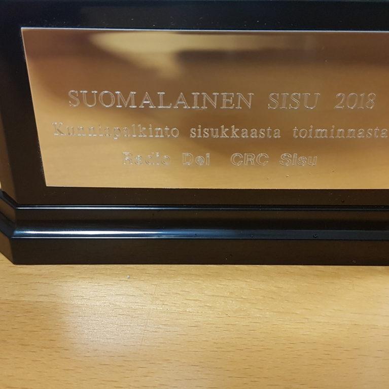 Suomalainen sisu 2018 -palkinto