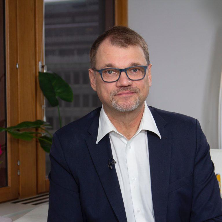 Keskustan Juha Sipilä Radio Dein tentissä perjantaina