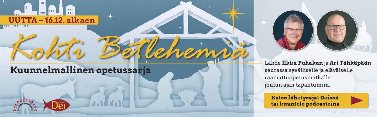 Kohti Betlehemiä raamattuopetussarja