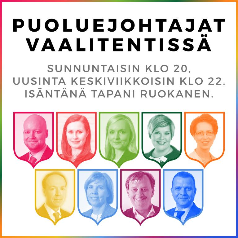 KUUNTELE: Radio Dei tenttaa puoluejohtajat sunnuntai-illoissa