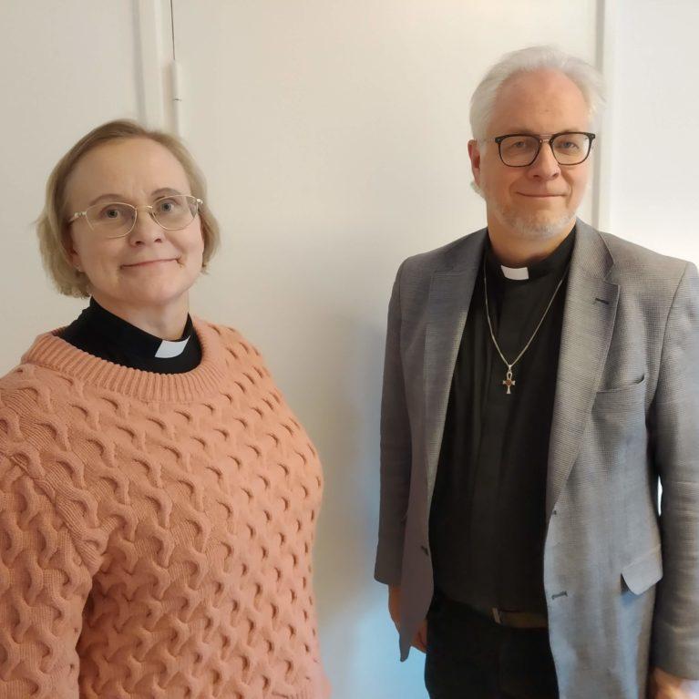 KUUNTELE:  Lapuan piispanvaalitentissä Terhi Kaira ja Jouko Ala-Prinkkilä